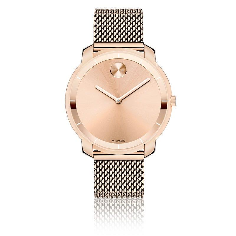 Mid-Size Movado BOLD Watch Flat Rose 3600243