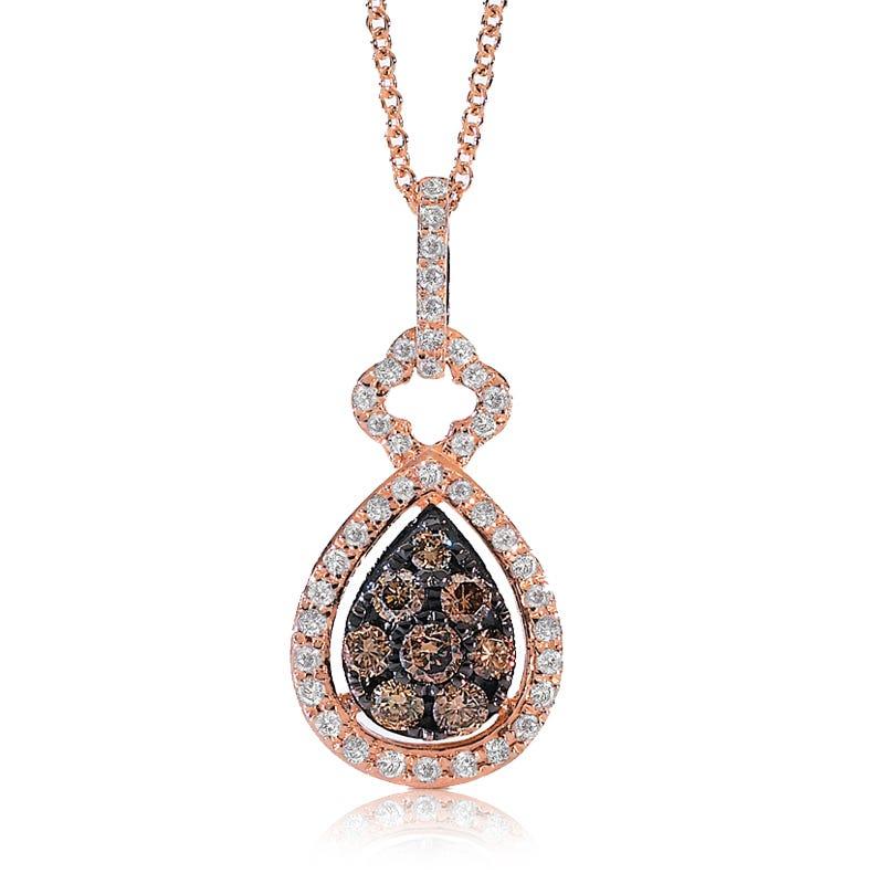 EFFY Prism Espresso Diamond Pendant in 14k Rose Gold