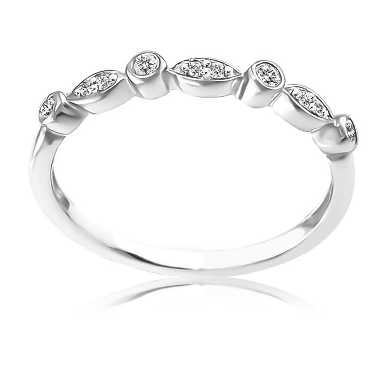Diamond Stackable Band in 10k White Gold