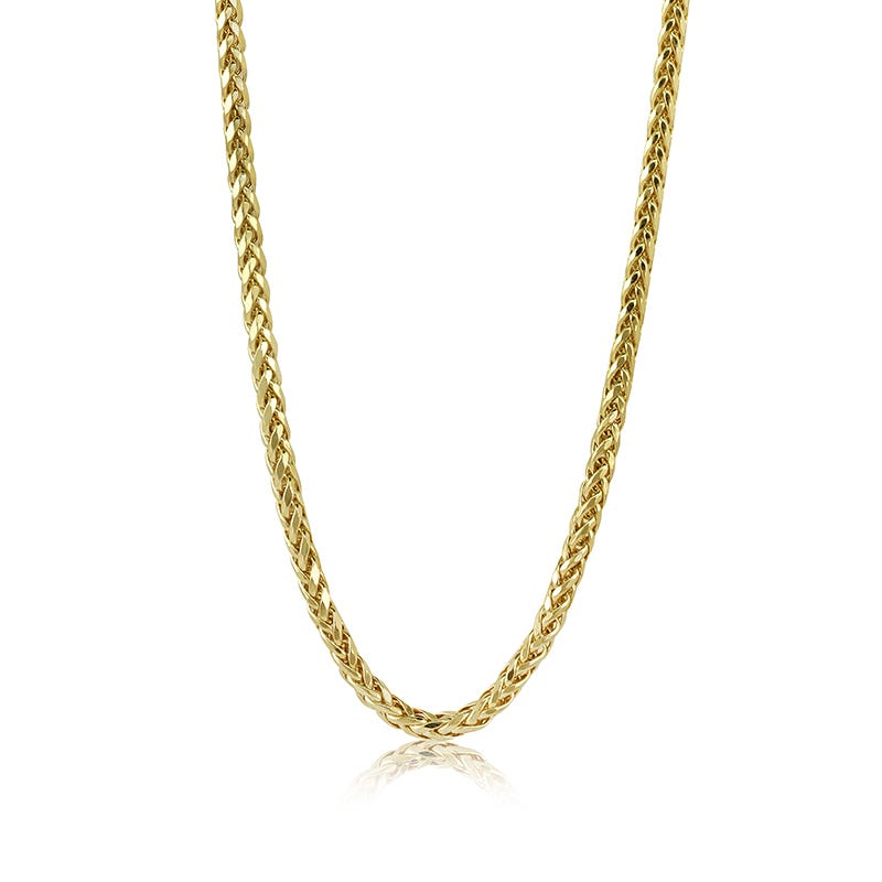 Men's Palm-Link 10k Yellow Gold Chain 24in.