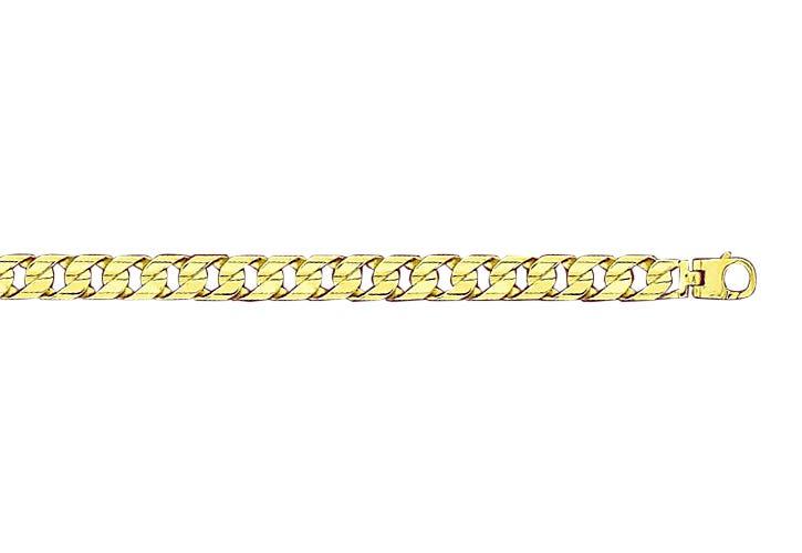 Cuban Link Bracelet 10.5mm in 10k Yellow Gold