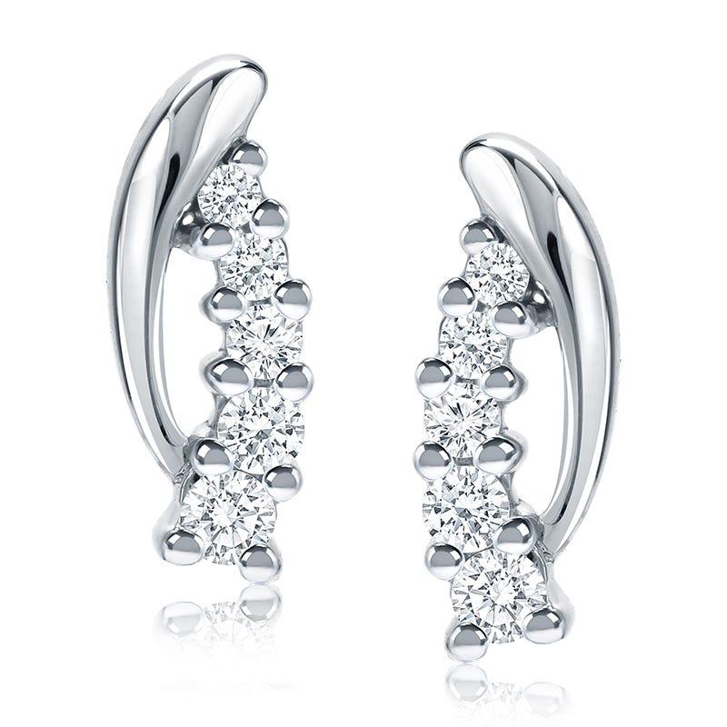 Diamond ½ctw. Cascade Drop Earrings in 14k White Gold