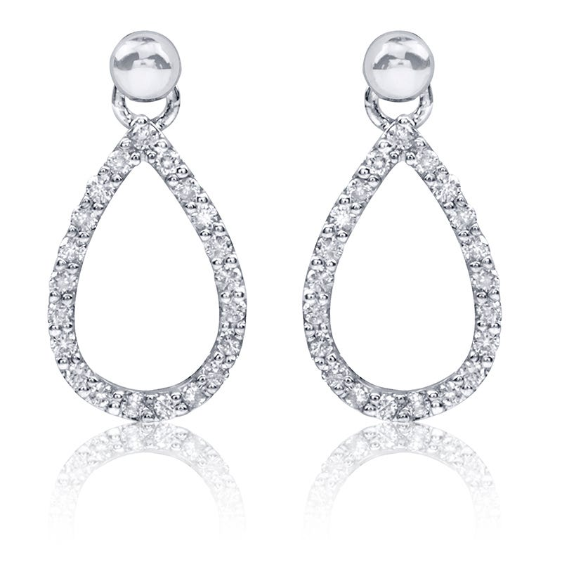 Pear-Shape Diamond Dangle Earrings