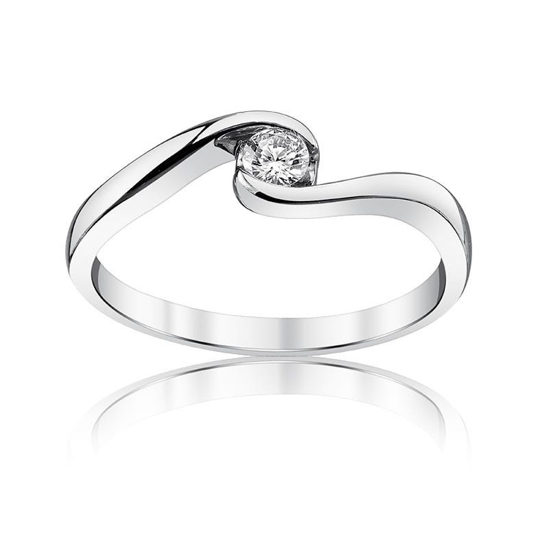 Sirena 1/5ct. t.w. Diamond Bypass Ring in 14k White Gold