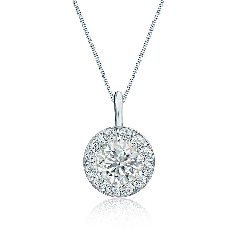 Diamond Halo 1ct. t.w. Pendant in 14k White Gold