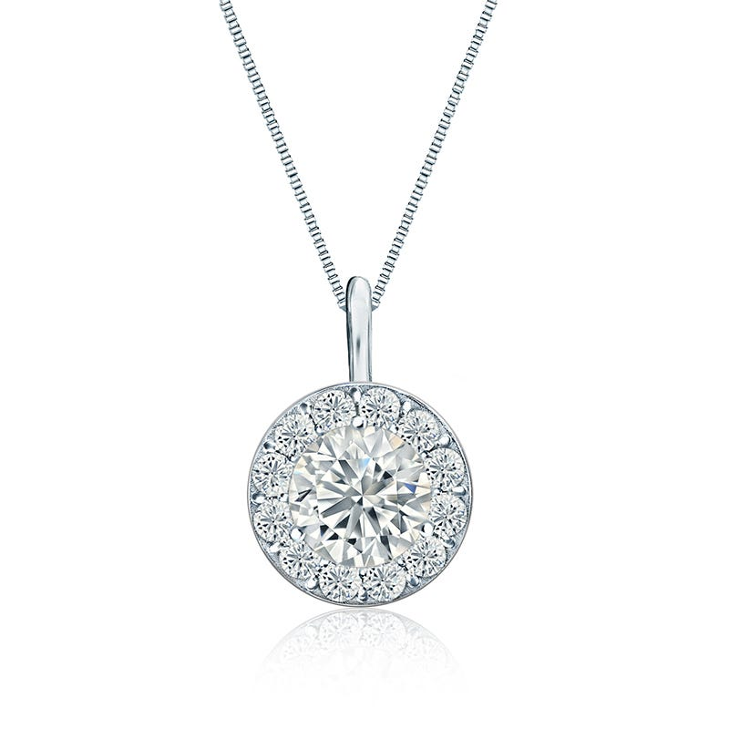 Diamond 1 1/2 ct. t.w. Halo Pendant in 14k White Gold