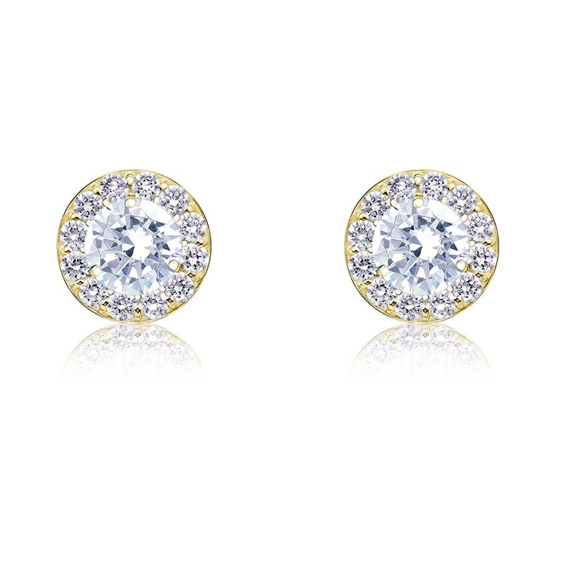 Diamond ¼ct. t.w. Halo Stud Earrings in 14k Yellow Gold