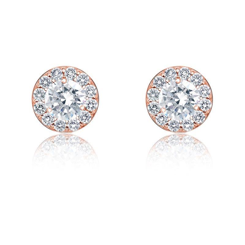 Diamond ½ct. t.w. Halo Stud Earrings in 14K Rose Gold