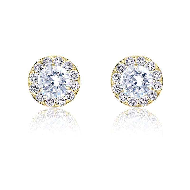 Diamond ½ct. t.w. Halo Stud Earrings in 14k Yellow Gold