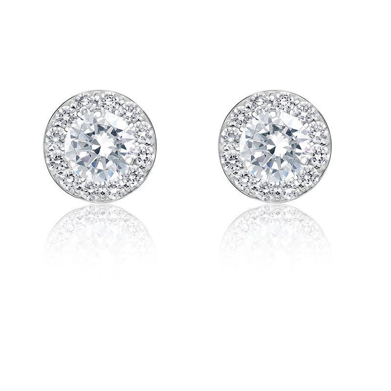 Diamond ¾ ct. t.w. Halo Stud Earrings in 14k White Gold