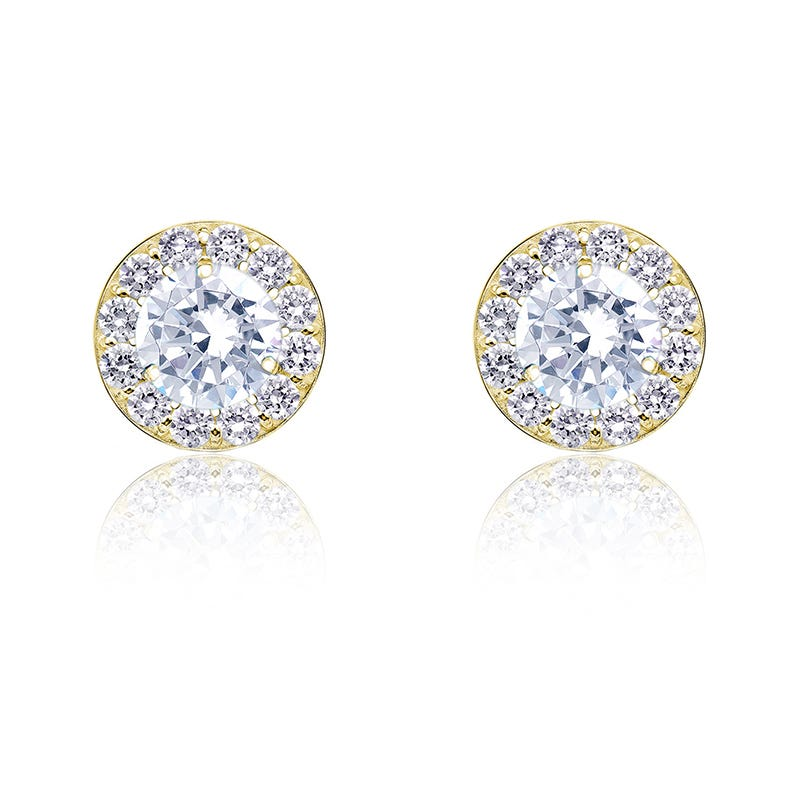 Diamond ¾ct. t.w. Halo Stud Earrings in 14k Yellow Gold