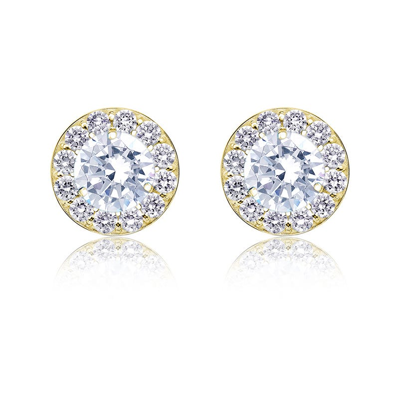 Diamond 1ct. t.w. Halo Stud Earrings in 14k Yellow Gold