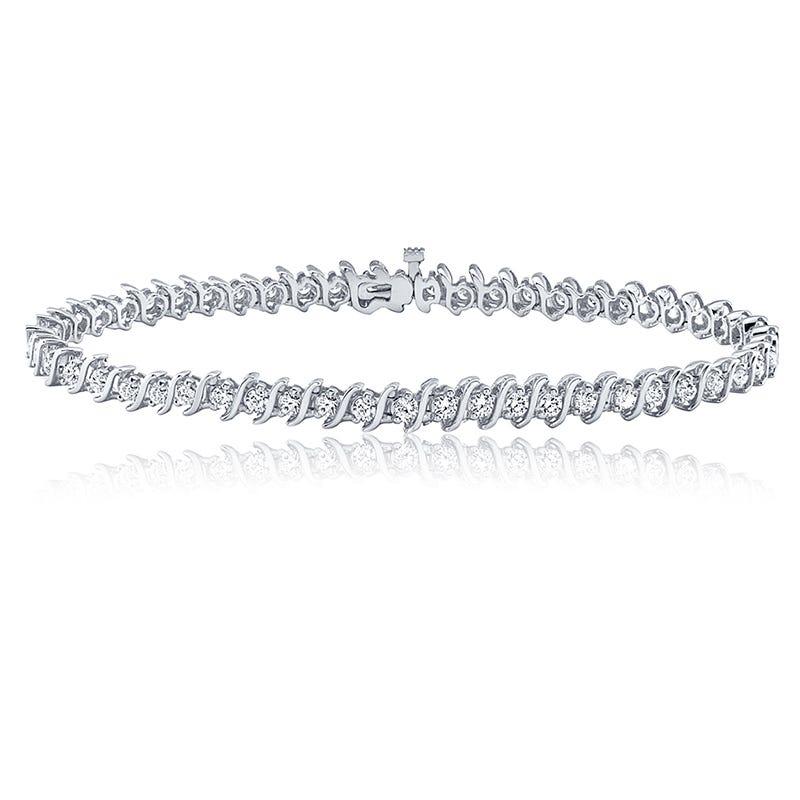 S-Link ½ct. Diamond Bracelet in 14k White Gold