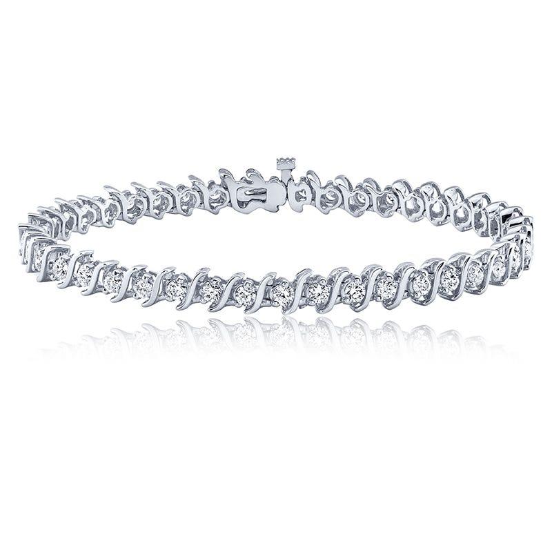 S-Link 4ct. Diamond Bracelet in 14k White Gold