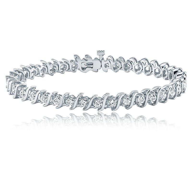 S-Link 5ct. Diamond Bracelet in 14k White Gold