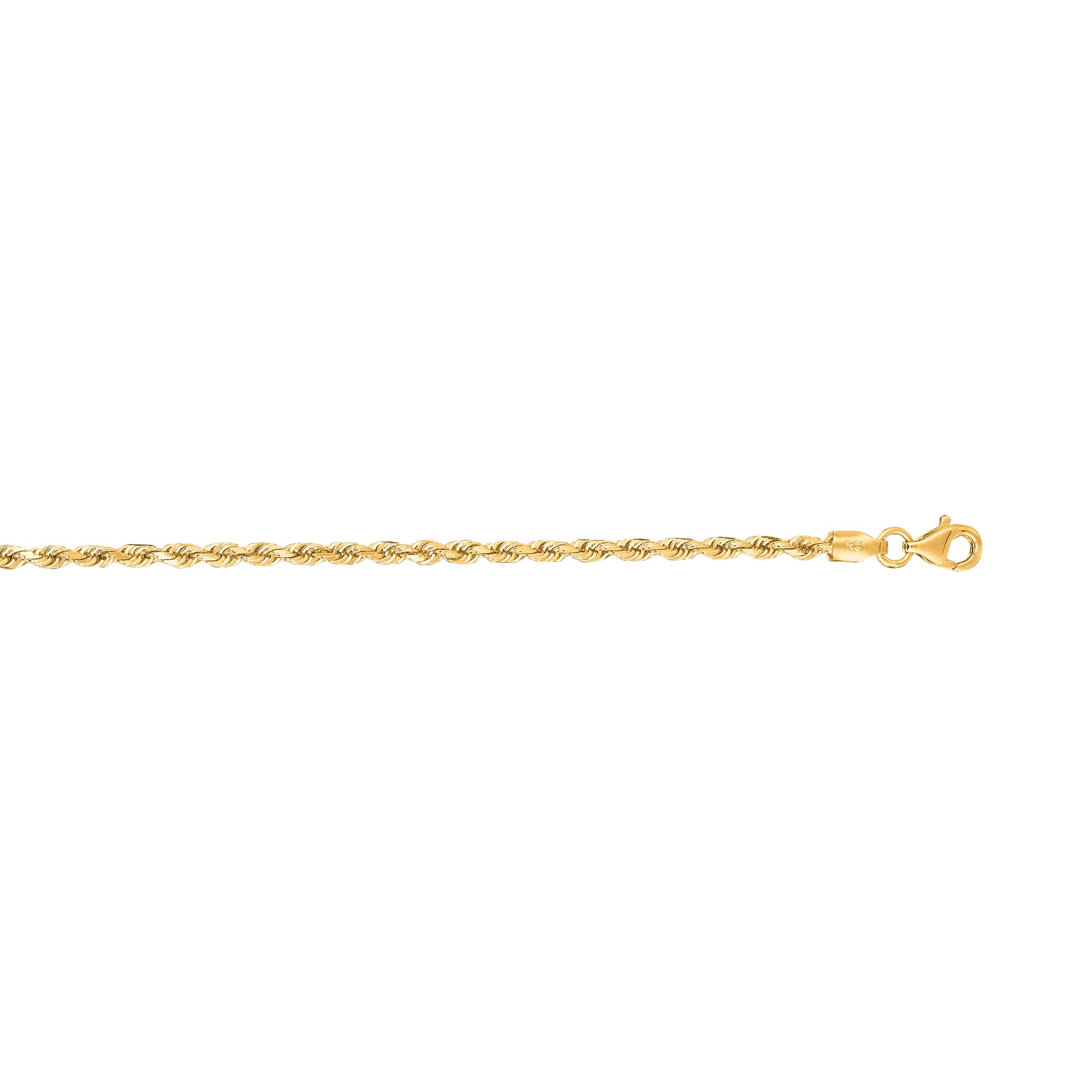 Diamond Cut Rope Chain 20