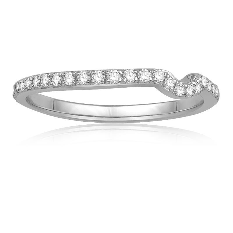 Ecoura Matching Diamond Wedding Band in 14k White Gold