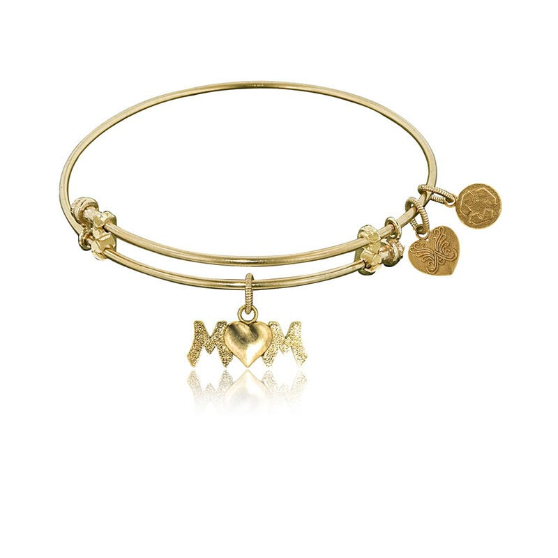 M&M Charm Bangle Bracelet in Yellow Brass