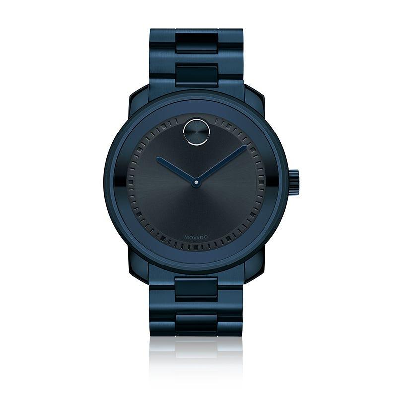 Movado BOLD Men's Ink Navy IP Watch 3600296