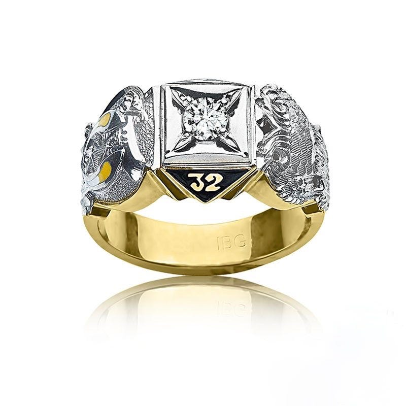 IBGoodman Men's Double Eagle Masonic Ring Mounting