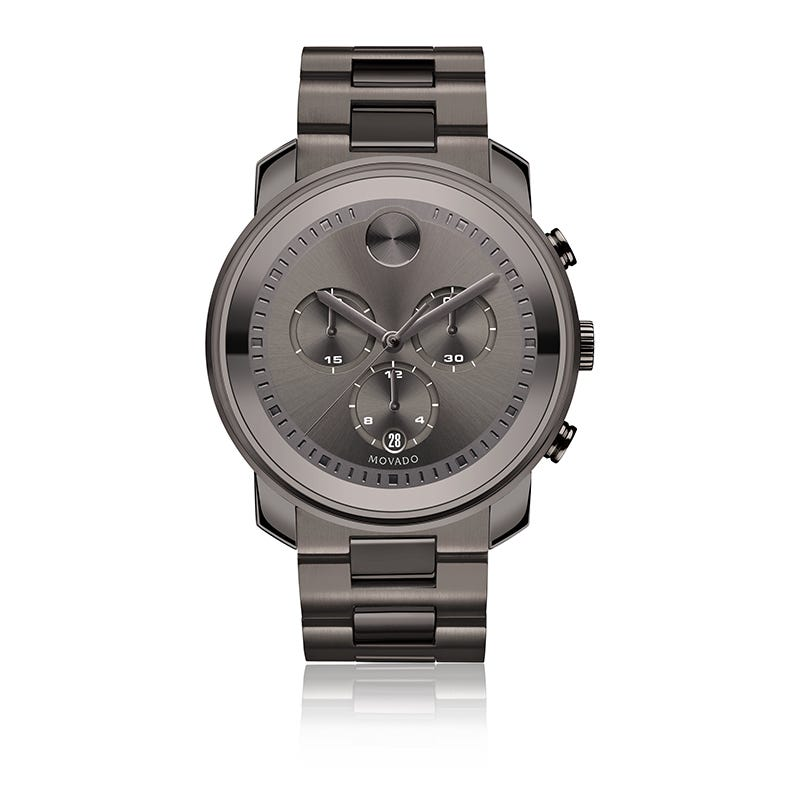 Movado BOLD Men's Metal Gunmetal PVD Chronograph Watch 3600277