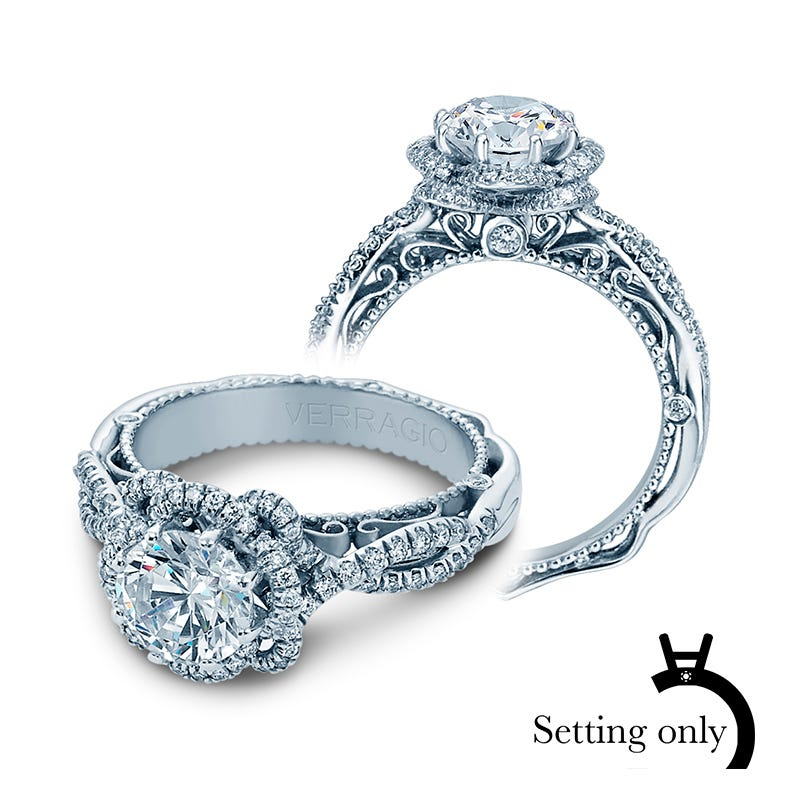 Verragio Venetian Diamond Halo Engagement Ring Setting 5051R