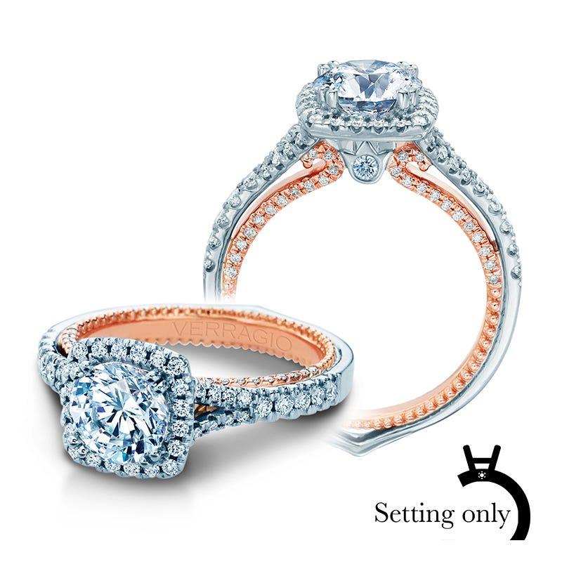 Verragio Couture Diamond Halo Engagement Ring Setting 0448CU