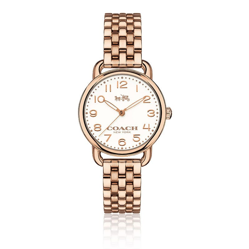COACH Delancey Small Rose Gold Plated Bracelet Watch