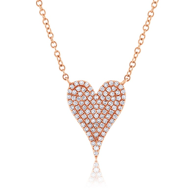 Shy Creation Diamond Pavé Heart Necklace