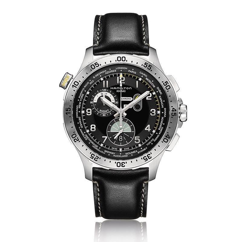 Hamilton Worldtimer Aviation Stainless Steel Watch H76714735