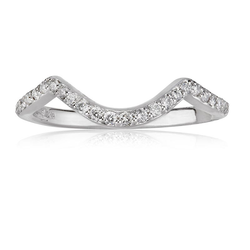 Stella. Diamond Wedding Band in 14k White Gold