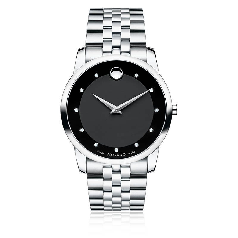 Movado Men's Museum Classic® with Black Dial in Stainless Steel Watch 606878