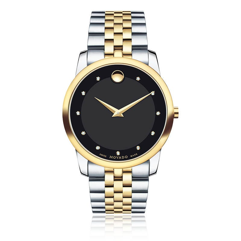 Movado Men's Museum Classic® Two-Toned with Diamond Markers Watch 0606879