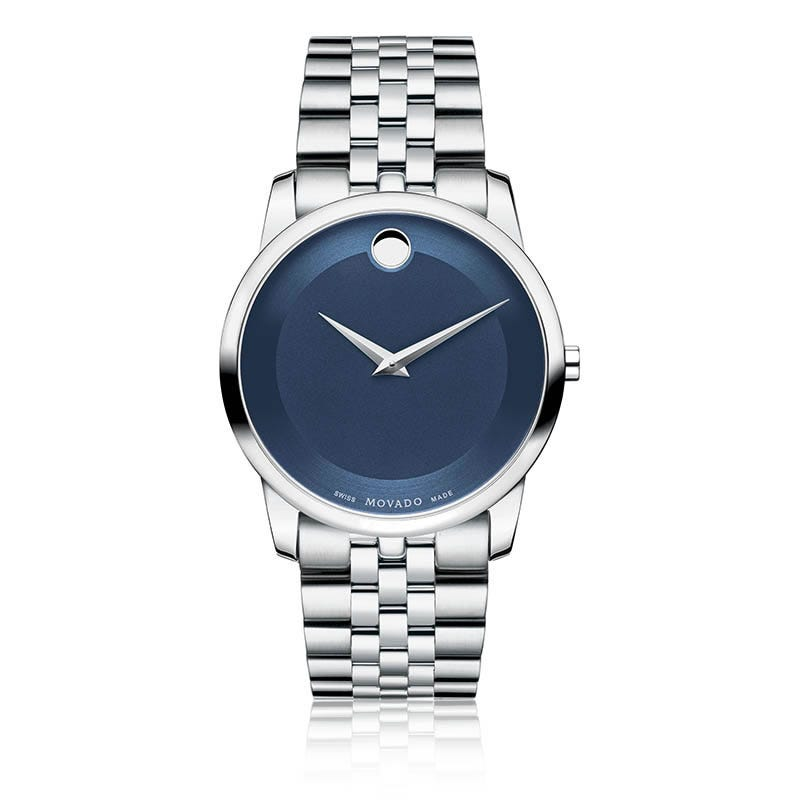 Movado Men's Museum Classic® Blue Dial Stainless Steel Watch 0606982