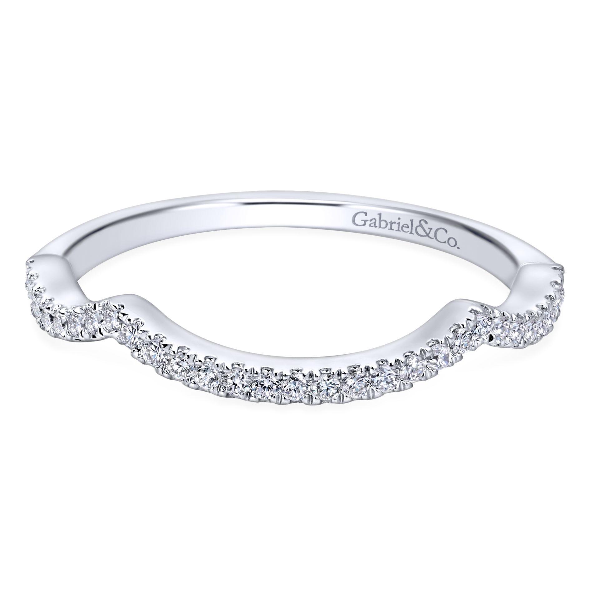 Gabriel & Co. Diamond Wedding Band in 14k White Gold WB7543W44JJ
