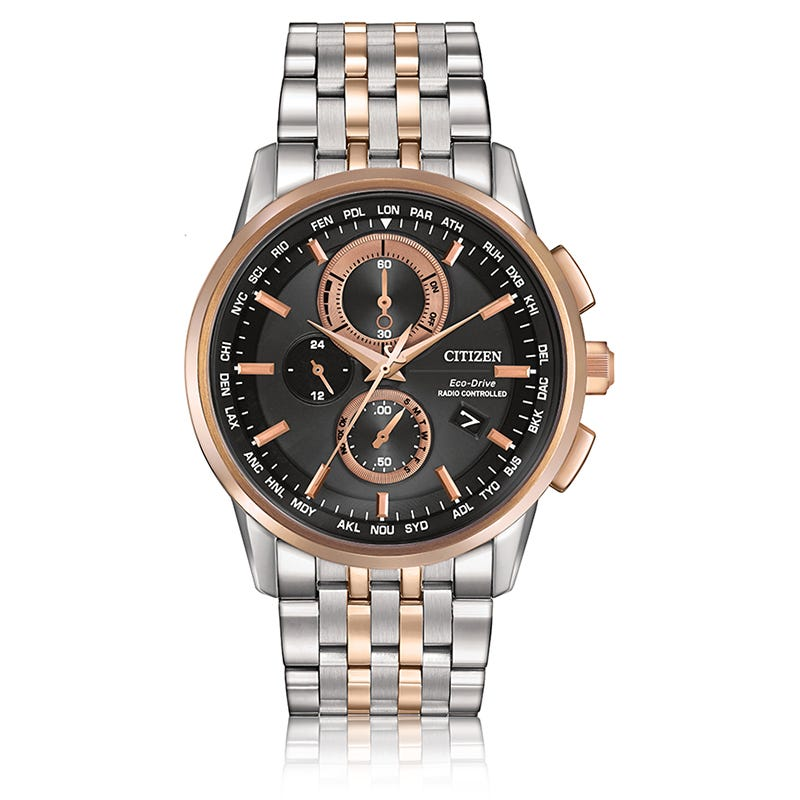 CITIZEN Men's World Chronograph A-T Two-Tone Bracelet Watch