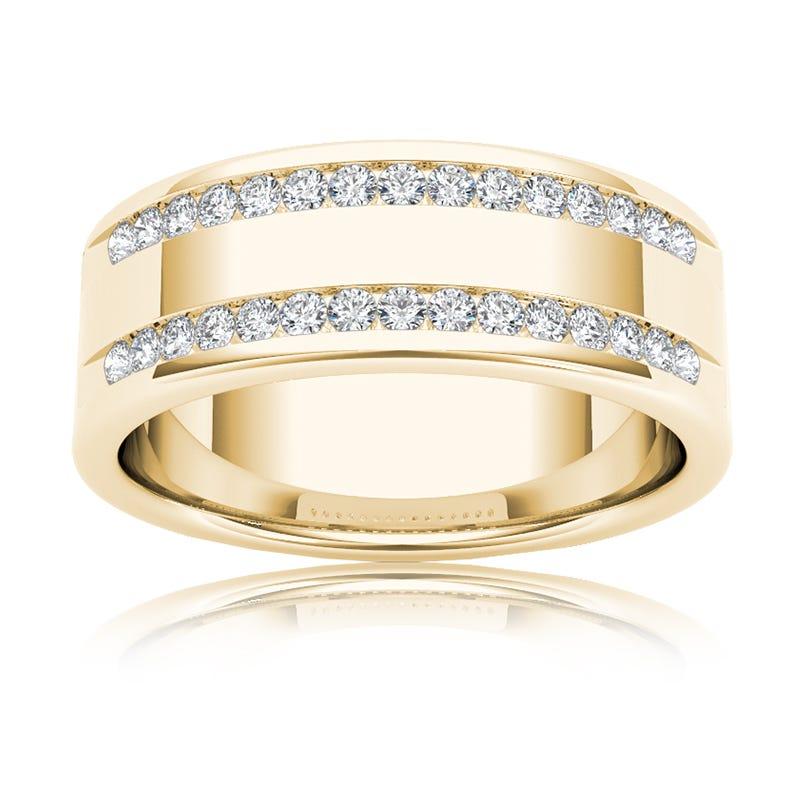 Men's Diamond 1/2 Carat Band in 14k Yellow Gold