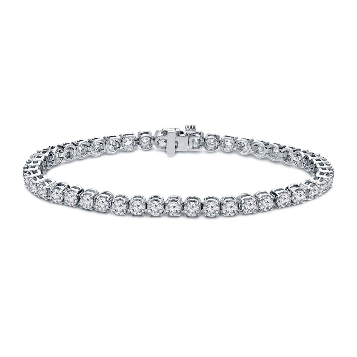 Diamond Tennis Bracelet 7ctw in 14k White Gold
