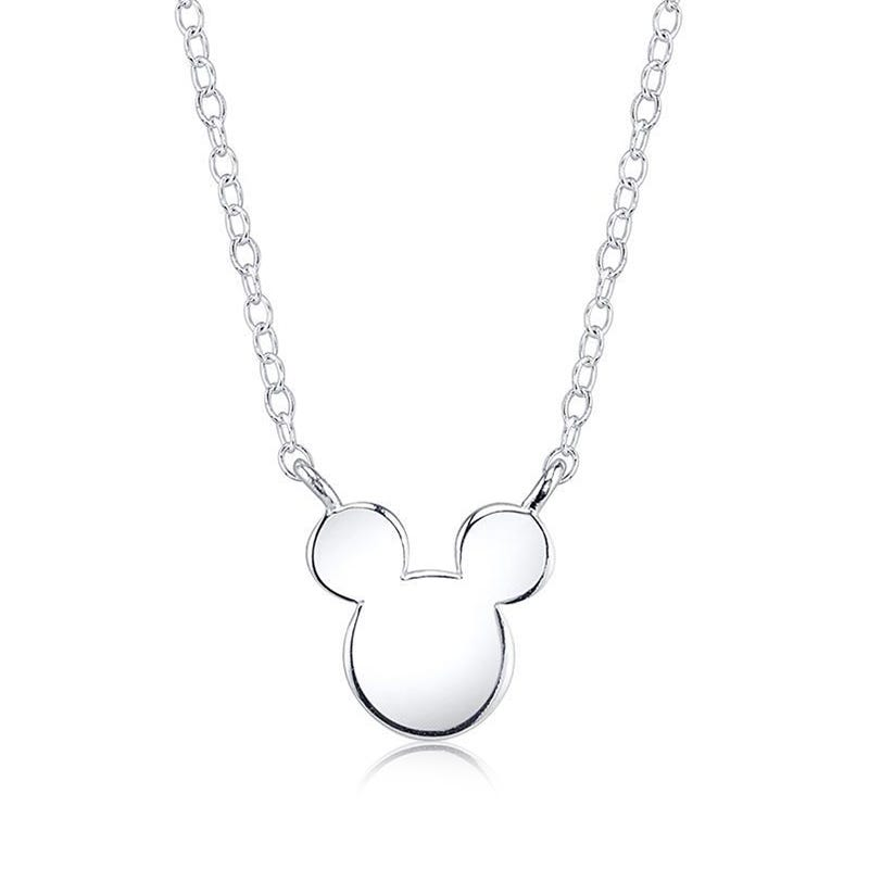 DISNEY© Iconic Mickey Mouse Necklace in Sterling Silver