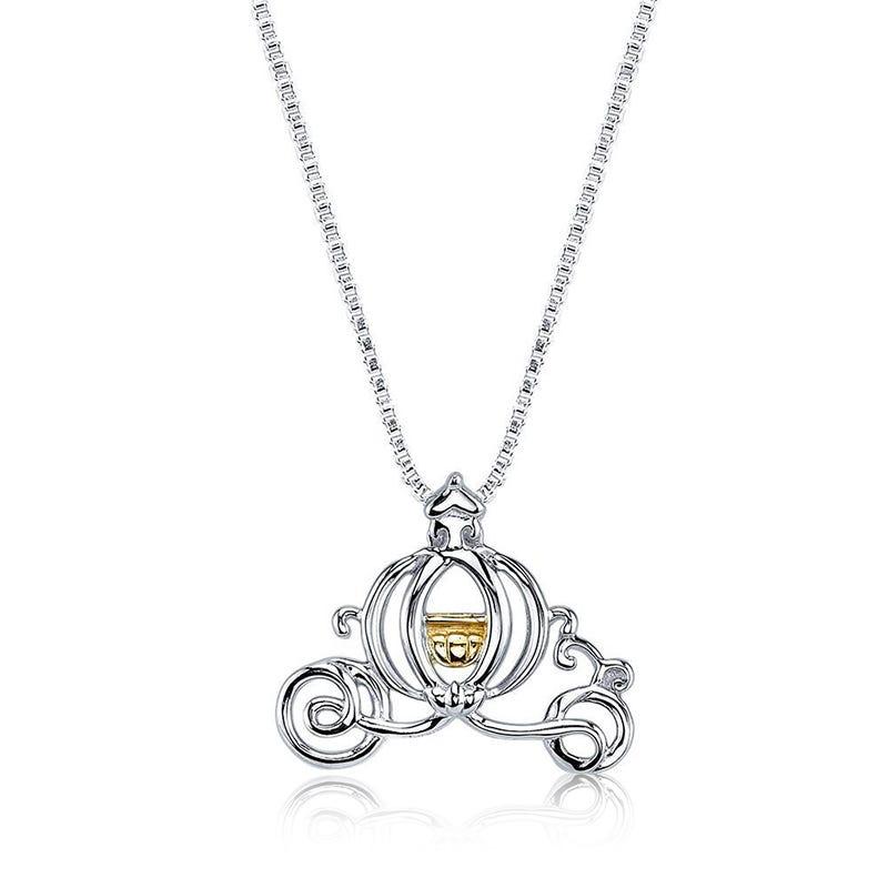 DISNEY© Cinderella Magical Pumpkin Carriage Necklace