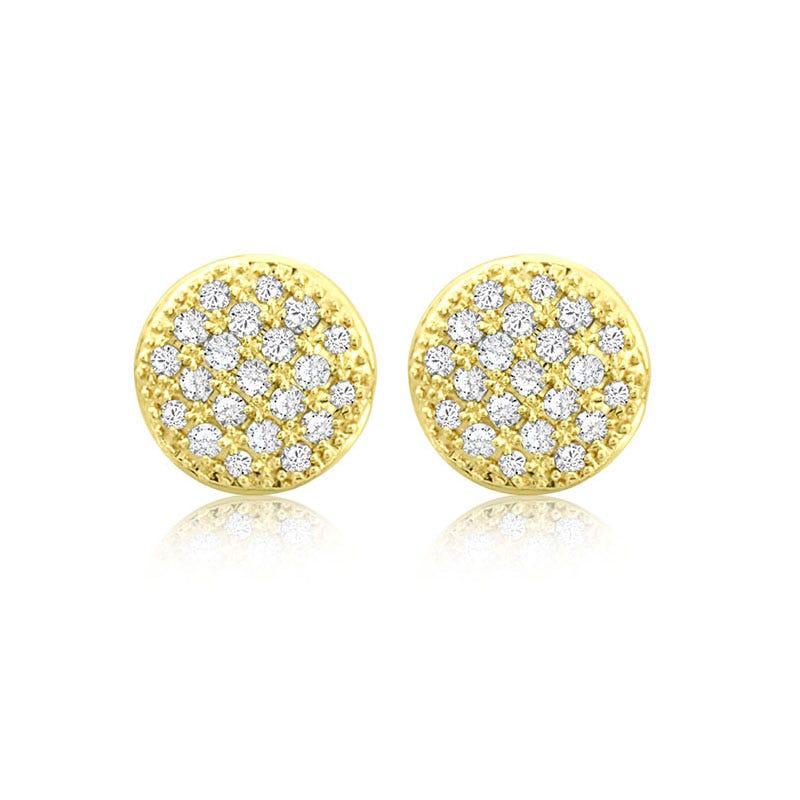 Diamond ½ct. Pavé Stud Earrings in 14k Yellow Gold