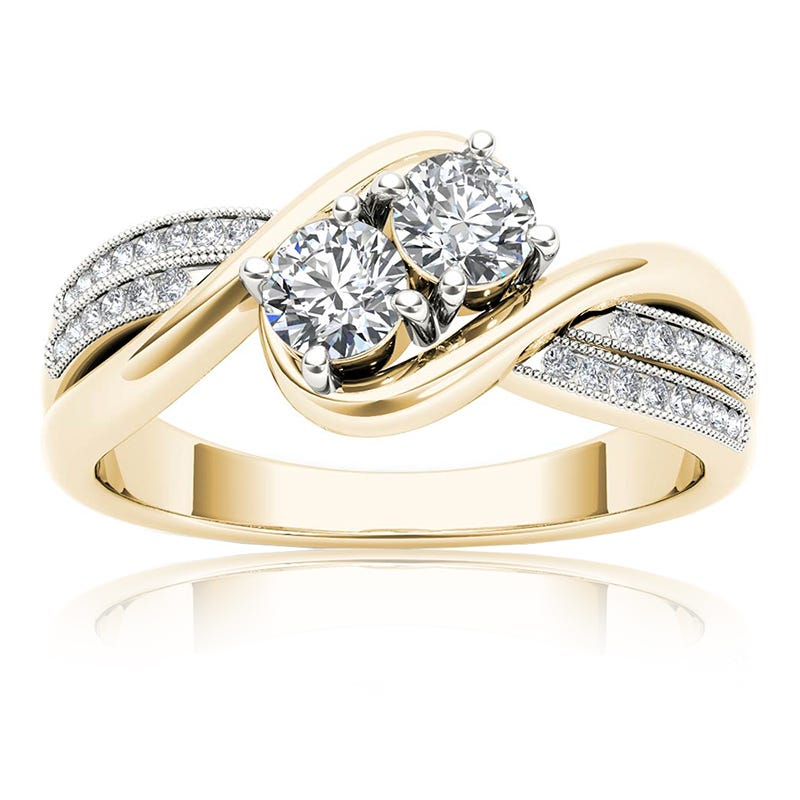 You & Me ½ct. Diamond 2-Stone Ring in 10k Yellow Gold