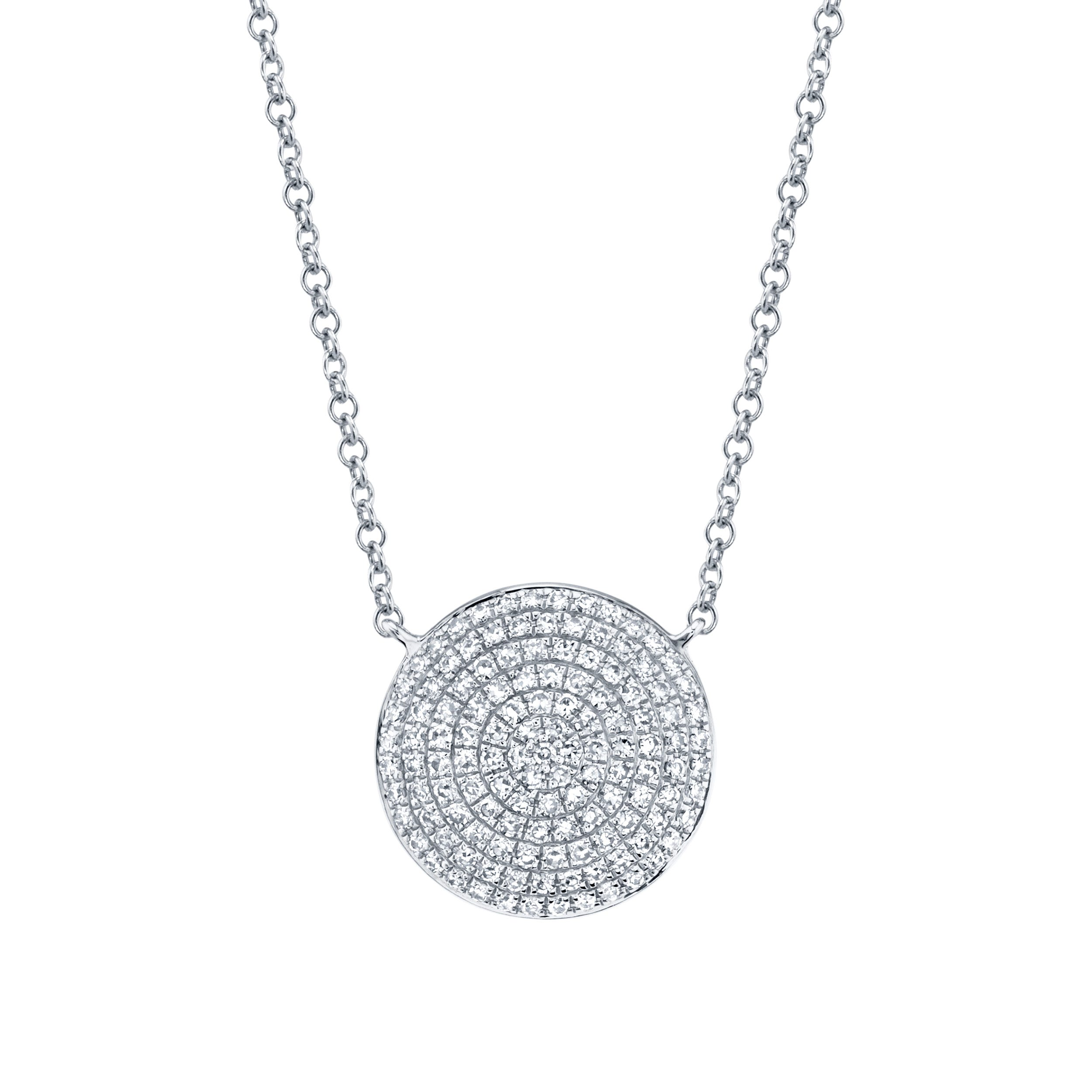 Shy Creation Diamond Circle Cluster Necklace 14k Gold SC55002176