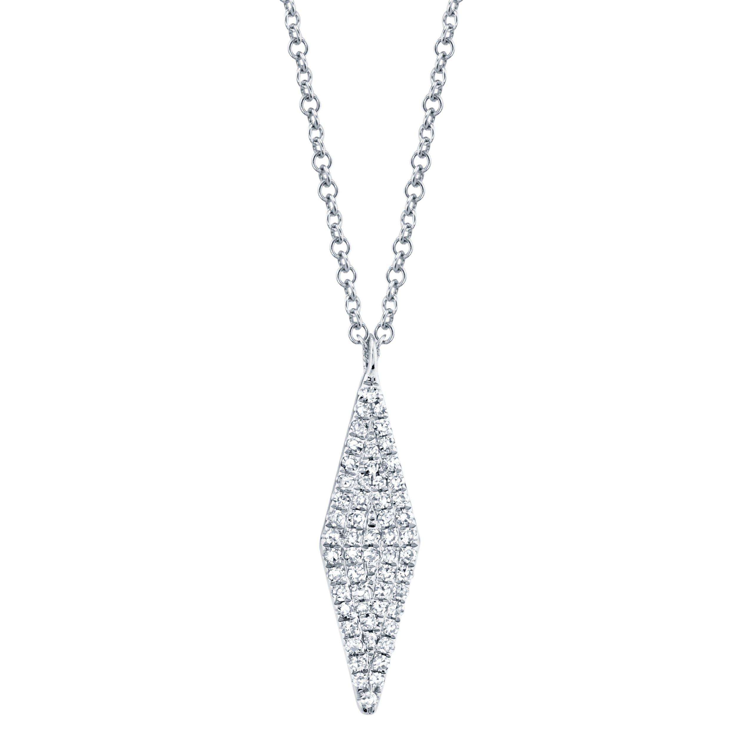 Shy Creation Diamond Kite Cluster Pendant in 14k White Gold SC55001716