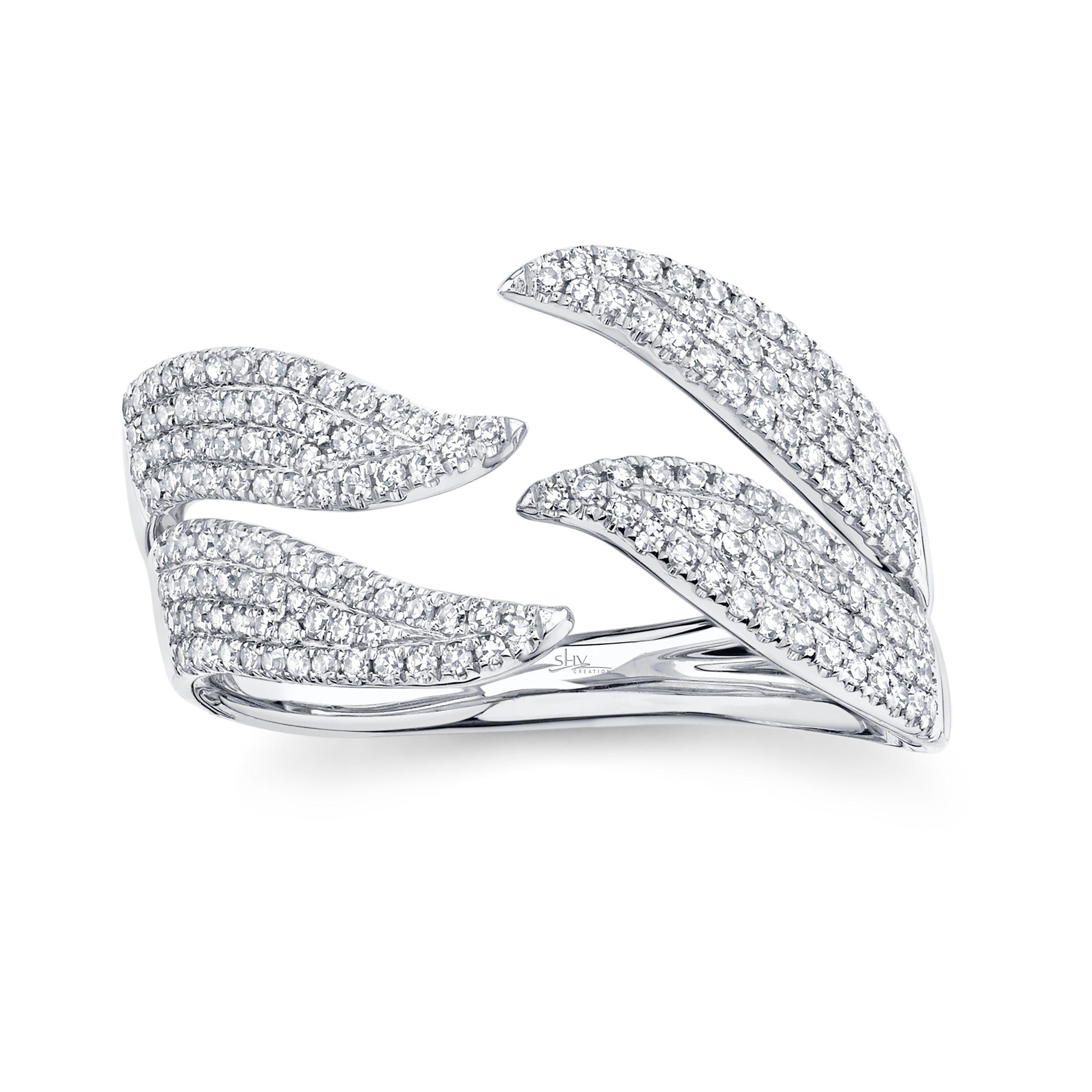 Shy Creation Diamond ½ct. Open Wave Wrap Fashion Ring 14k White Gold SC55002187