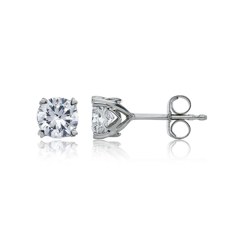 Diamond 1/4ct. tw. Solitaire Earrings in 14k White Gold