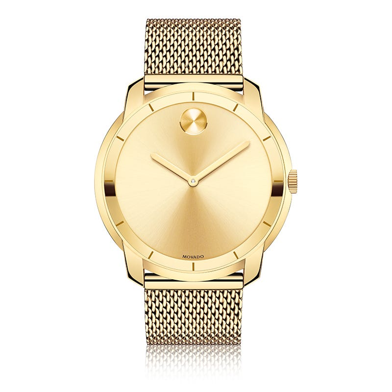 b48e888d4 Movado BOLD Gold-Tone Stainless Steel Mesh Bracelet Watch 44mm 3600373