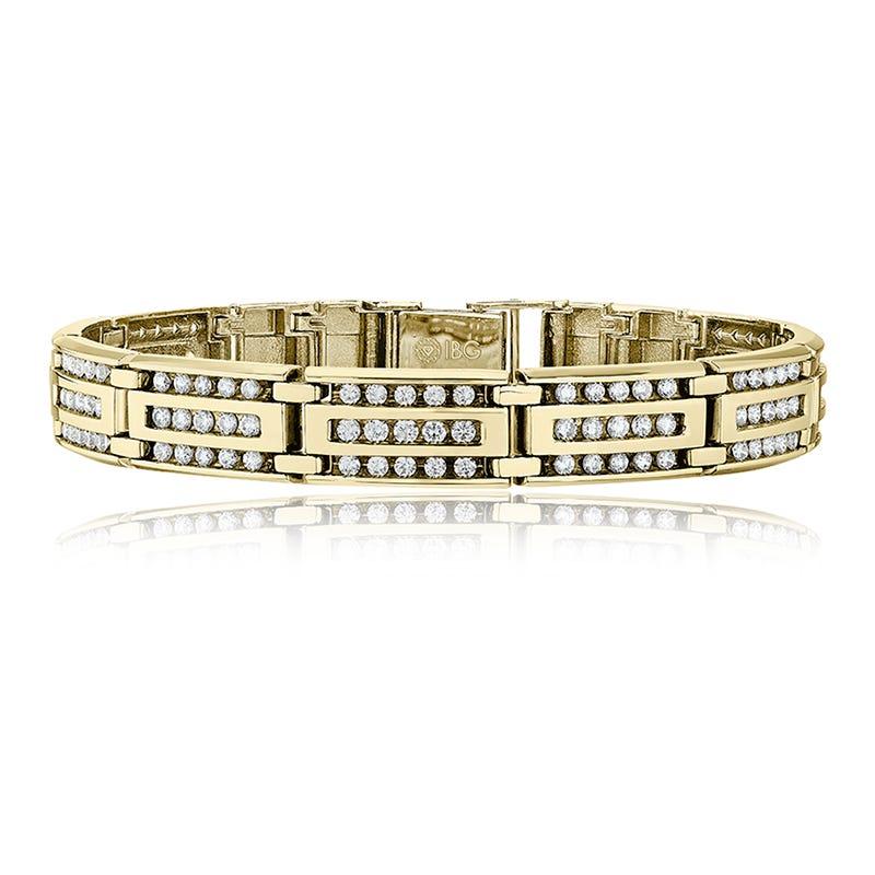Men's 4ct. tw. Diamond Link Bracelet in 10k Yellow Gold