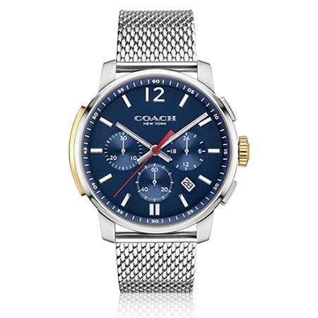 Coach Men S Bleecker Chrono Stainless Steel Mesh Bracelet Watch 14602022