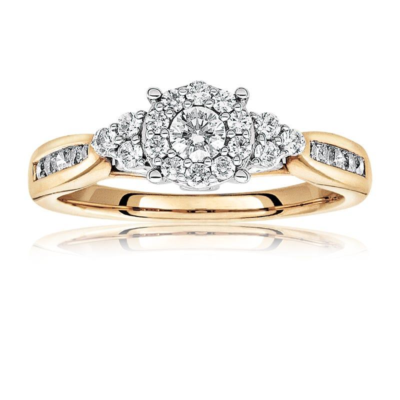 Morgan Diamond Engagement Ring In 14k Yellow Gold